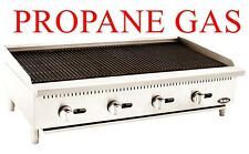 48 Lava Rock Char Broiler Grill Propane Gas Rocks Included 4 Foot Wide Nsf Cert