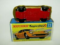 Matchbox Superfast No 33 Lamborghini Miura Light Gold DULL RED Base NMIB RARE
