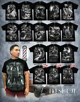 DGA David Gonzales Fresh Cut Barber Shop Rockabilly Lowrider Chicano Art T Shirt