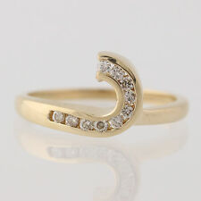 Diamond Solitaire Enhancer Ring - 14k Yellow Gold Wedding Band Genuine .15ctw