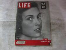 Life Magazine November 23rd 1953 Sandra Krasne Student Published By Time   mg542