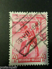 BELGIQUE 1945, timbre COLIS POSTAUX 286 TRAINS, oblitéré, PARCEL POST USED STAMP