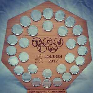 olympic 50p collection display stand plus 30 capsules