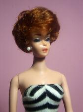 Vintage Gorgeous Bubblecut Barbie Model #850 Titian Hair OSS Black Mules ExcCond