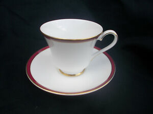 Minton. SATURN. Red.  Teacup and Saucer
