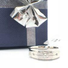 14k White Gold Natural Diamond Ring Band