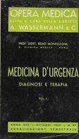 Medicina d'urgenza diagnosi e terapia vol.I - Monteleone  opera medica Wasserman