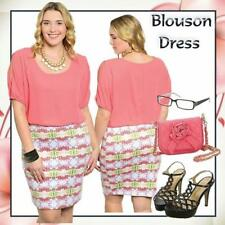 Casual Plus Size Dresses for Women with Blouson