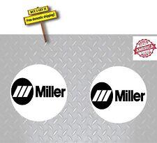 """Miller Welder Pair (2 Decals) 2"""" Welder Helmet Decal Stickers Made in America"""