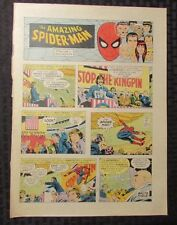 1977 Spider-Man Sunday Comic Strip 9/4/77 John Romita Fn Kingpin