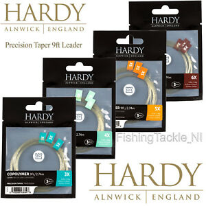 Hardy 3 Pack 9ft Copolymer Precision Tapered Leader 3lb - 8lb Fly Fishing Copo