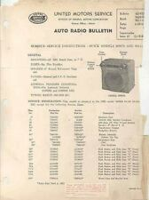 1951 Buick Auto Radio Service Instructions Brochure 74936-M4HJR2