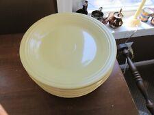 "8 - Homer Laughlin Fiesta Ware Pastel Yellow Dinner Plates 10 1/2"""