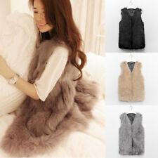 Faux Fur Sleeveless Vest Waistcoat Gilet Wrap Shrug Jacket Coat Outwear for Girl