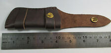 "Twosun Folding Pocket Knife Sheath 5"" Smooth Genuine Leather Belt Case TS-Sheath"