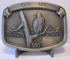 J I Case Corporation Trademark Logo OLD ABE 1880 Bald Eagle Retired Belt Buckle