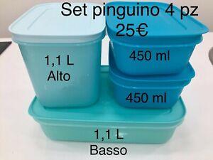 Tupperware Set Pinguino 4pz