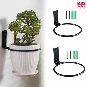 3x Shelves Planter Tray Wall Mounted Space Saving Flower Pot Ring Potted Plant