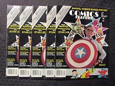 1985 Comics Feature Magazine #33 Fn+/Fvf Stan Lee - New Teen Titans Lot of 5