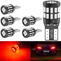 6X 12V T10 194 168 W5W SMD LED voiture CACHÉE Rouge CANBUS Erreur Ampoule Wedge