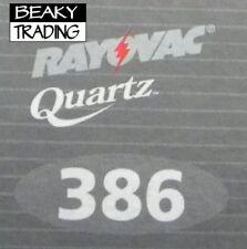 Genuine Rayovac 386 SR43W Watch Battery [1-Pack]