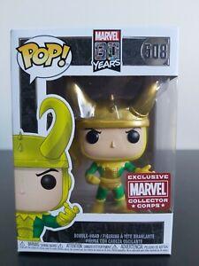 Marvel Funko Pop - Loki - 80th Anniversary - Marvel Collector Corp - No. 508