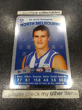 2010 AFL TEAMCOACH SILVER CARD NO.30 SCOTT THOMPSON NTH MELBOURNE