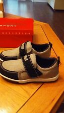 Loafer Toddler Boy's Size 13 Shoe Strap Textured Black & Gray Casual or Formal
