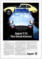 A3 - Wall POSTER Print Art - E-Type Jaguar V 12 Retro Vintage Car Advert - #1