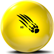 New listing 900 Global Honey Badger Yellow Poly Bowling Ball NEW!