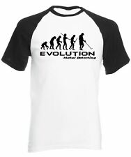 Evolution of Metal Detector Men's Baseball Shirt Hobbies Detectorists