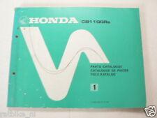 HONDA CB1100R B PARTS CATALOGUE,TEILE-KATALOG 1980 NO 1,CATALOG PIECES CB1100RB
