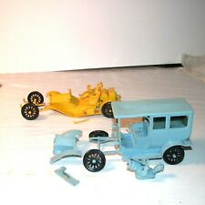 2 Gowland Model Cars 1914 Stutz Bear Cat & 1910 Cadillac Repair Parts Copyr 1952