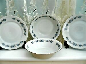 MITTERTEICH BAVARIA  ** FORGET ME NOT **  PAIR  CEREAL BOWLS & SIDE PLATES