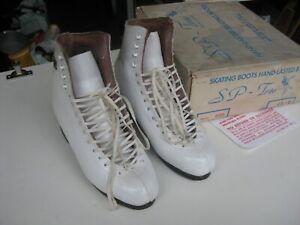 SP-Teri Hand lasted Ice Skates / Boots White 650 UK size 4 1/2 I B - hardly used