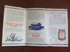 Vintage c1930s Hog For Profits Royal Staf-o-life Feed Mill Pig Meal Brochure