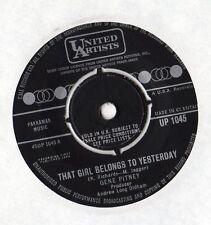 "Gene Pitney-esa chica pertenece a ayer 7"" solo 1964"