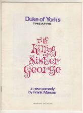 "Beryl Reid   ""The Killing of Sister George""   London   Playbill  1965"