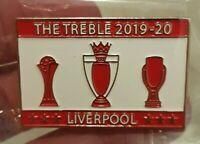 Liverpool FC TREBLE Winners Badge 2019 2020 Premier League Champions Super Cup