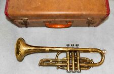 Vintage Getzen Elkhorn Wisconsin Trumpet for parts or repair