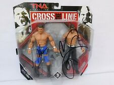 WWE TNA Wrestling Cross the Line AJ STYLES & JEFF HARDY Wrestling Figures AUTO