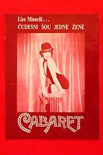 CABARET 1973 LIZA MINNELLI MICHAEL YORK HELMUT GRIEM BOB FOSS EXYU MOVIE PROGRAM