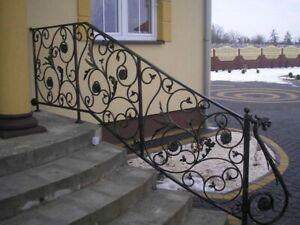 Treppengeländer Terrassengeländer mit Blumenmotiv und Drachenkopf feuerverzinkt