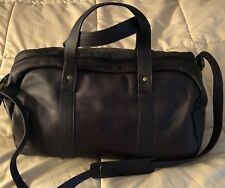 David King & Co A Frame Duffel Weekend Bag - Leather Dark Brown - Cafe NEW