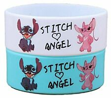 LILO & STITCH Stitch and Angel Silicone Bracelet Set of 2 Wristbands