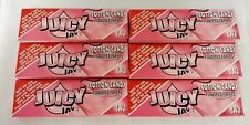 6 Packs JUICY JAY'S  1 1/4 Rolling Papers Cotton Candy Free Ship