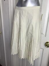 NWT $148 Phillipe Adec Pleated Skirt Size 10 - Beige Sand - Vintage