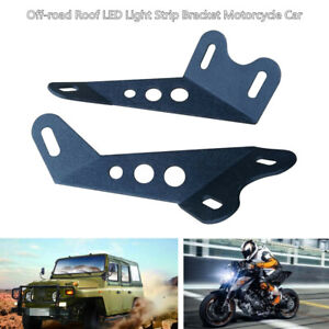 Pair Off-road Roof LED Light Strip Bracket Firmly Car Upper Bar Mounting Bracket