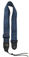 Guitar Strap Black Blue Brown Woven Nylon For Acoustics & Electrics Made In USA
