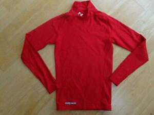 UNDER ARMOUR mens red long sleeve compression sports top SMALL AUTHENTIC